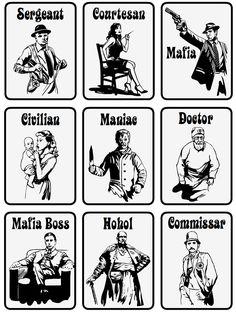 Mafia Board Game Cards on Behance