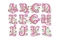 40% off Cute Alphabet for Lil Princess Applique by EmbroideryLand