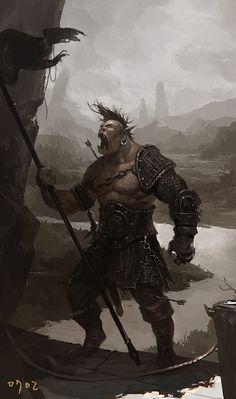 Fantasy Armor, Dark Fantasy, Pathfinder Orc, Dnd Orc, Orc Armor, Animal Sleeve Tattoo, Rpg Map, Dark Artwork, Dnd Monsters