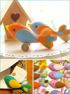 2016 new fashion hotsale China Spring product wholesale handmade fabric craft home decoration ornament felt Easter stuffed birds Bird Crafts, Felt Crafts, Easter Crafts, Home Crafts, Fabric Crafts, Sewing Crafts, Crafts For Kids, Arts And Crafts, Felt Diy