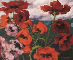 Emil Nolde, Großer Mohn (rot, rot, rot), 1942, 73,5 x 89,5 cm, oil on canvas. Nolde Foundation, Seebüll, © Nolde Foundation Seebüll, 2013.