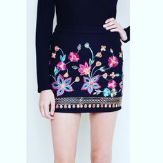 """COMING SOON: """"Dance the Dust Off"""" embroidered high waisted skirt."""