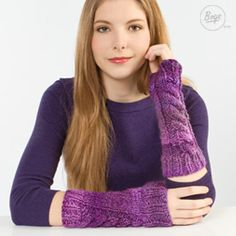 Chunky cable knit wrist warmers are a great way to avoid the cold in style!