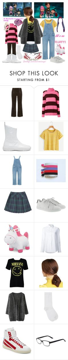 """""""Despicable Me inspired"""" by fandom-girl365790 ❤ liked on Polyvore featuring M.i.h Jeans, Laneus, Maison Margiela, Levi's, Yves Saint Laurent, Misha Nonoo, Boohoo, Jennifer Behr, M&Co and Select-A-Vision"""