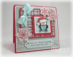 Merry Christmas and a Happy New Year Card by Jackie Pedro #NewYear's, #Christmas, #Cardmaking