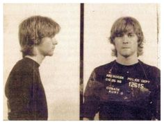 """Kurt Cobain, 19 years old. Arrested for spray painting """"God is gay."""""""