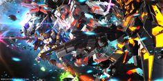 Gundam Digital Art works Part 1 - Gundam Kits Collection News and Reviews the unicorns