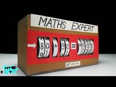How to make maths working model from cardboard Social Studies Projects, Science Projects, School Projects, Math Work, Math Class, Maths, School Exhibition, Exhibition Ideas, Science Project Working Model