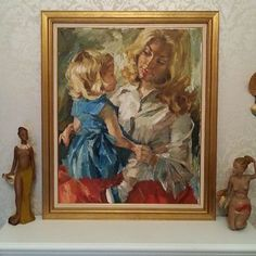 Bilderesultat for charles roka Mother And Child, Children, Painting, Art, Mother Son, Young Children, Art Background, Boys, Mother And Baby