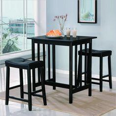 Homelegance 3 Piece Kitchen Dinnette Set in Black
