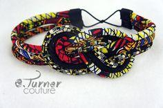 www.cewax.fr aime ces bracelets style ethnique tendance tribale chic tissu africain African Headband Ankara Headband African Wax by ETurnerCouture