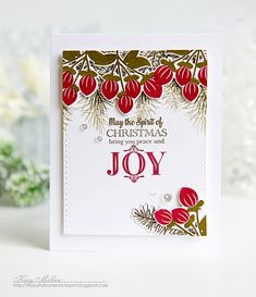 Spirit Of Christmas Card by Kay Miller for Papertrey Ink (September 2016)