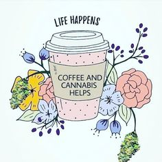 Life happens coffee helps free printable wall art posted by Stephanie.Whether you're a morning or afternoon coffee drinker (or both!), I'm sure you'll relate to this wall art, which has fast become my life motto. Coffee Is Life, I Love Coffee, Coffee Art, Coffe Decor, Coffee Cups, Happy Coffee, Coffee Drawing, Black Coffee, Life Happens