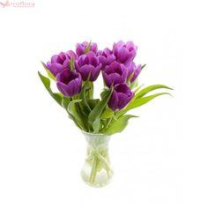 Purple Grace - Buchet de 9 #lalele violet Violet, Tulips, Bouquet, Plants, How To Make, Bouquet Of Flowers, Bouquets, Plant, Tulip