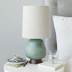 Mid-Century Table Lamp - Jar | west elm- lucy this one is way shorter but the design is kinda indian cool.