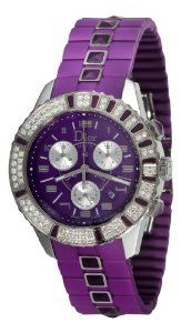 Christian Dior Unisex CD11431JR001 Christal Chronograph Diamond Purple Dial Watch  $5,605.08 #christian dior #luxury watches