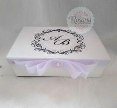 caixas decoradas para padrinhos de casamento - Pesquisa Google