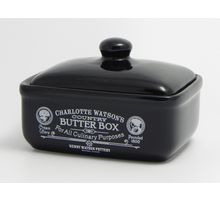 Butter Box - Charlotte Watson in Black Collection - Henry Watson Pottery