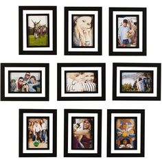 melannco set of 9 4x6 picture frames 46 cad liked on polyvore