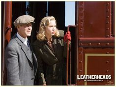 "George Clooney and Renee Zellweger in ""Leatherheads"" 20's Fashion."