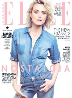 8b6fc9cc9700 Taylor Schilling lands the June 2015 cover of ELLE Canada Cheveux,  Couverture, Covergirl,