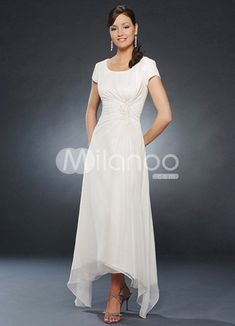 Mother Groom Semi Formal Dresses | Dresses Bride on Sleeves Pleated Chiffon Mother Of Groom And Bride ...