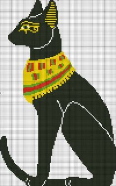 Cross stitch cat egyptian