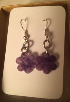 Purple Grape Flower Earrings by inthespicerack on Etsy