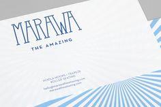 Mind Design – Identity for Marawa The Amazing, an international Hoola Hoop star and performer