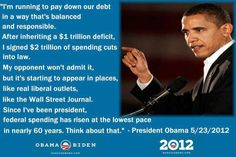 Obama on his spending record...