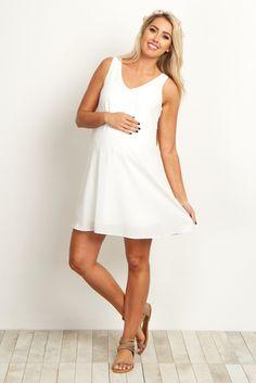 Basic-White-Chiffon-Dress