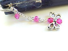 Butterfly Bookmark Metal Bookmark Crystal by pnljewelrydesigns, $8.00