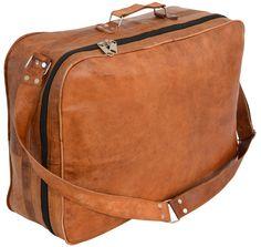 """Edel und groß, dabei praktisch und modern, Koffer und Tasche – eine eigenwillige Kombination, die einfach genial ist. """"Alexander"""" fasziniert mit der Verbindung von außergewöhnlichem Design und außergewöhnlicher Funktionalität - Ledertasche - Weekender - Gusti Leder - R7"""