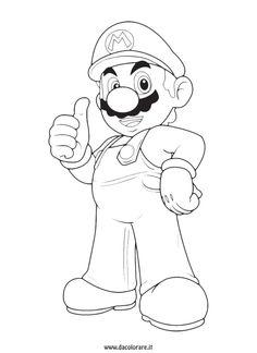Guarda tutti i disegni da colorare di Super Mario www.bambinievacanze.com