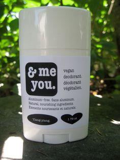 Vegan Deodorant-Ylang-Ylang Scent-Handmade-Natural & Nourishing. $8.00, via Etsy.