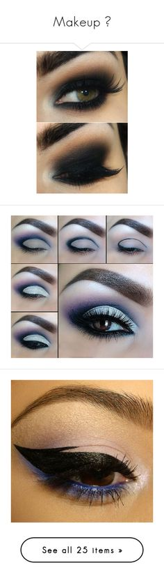 """""""Makeup ♥"""" by gothgirl916 ❤ liked on Polyvore featuring emo, scene, Punk, goth, alternative, beauty products, makeup, eye makeup, eyeliner and eyes"""