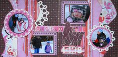 Learning to Skate - 2 page winter Kiwi Lane layout with a mother and child image - from my Christmas Album 4. Love the title SK8.