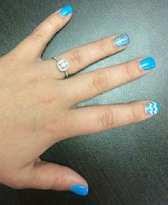 Blue, white and silver glitter!