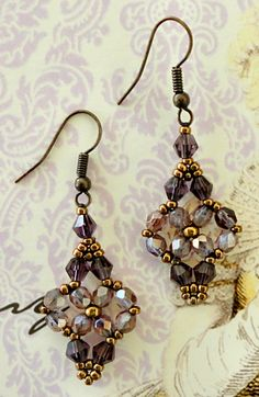 Linda's Crafty Inspirations: Bracelet of the Day: Moon Ring - Purple