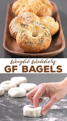 gluten free breakfasts These simple Weight Watchers gluten free bagels are made with just 5 simple ingredients and have only 3 SmartPoints each. Even if you're not on WW, you're Gluten Free Diet, Foods With Gluten, Gluten Free Cooking, Gluten Free Breads, Gluten Free Croissant, Yeast Free Breads, Lactose Free, Gluten Free Breakfasts, Gluten Free Desserts
