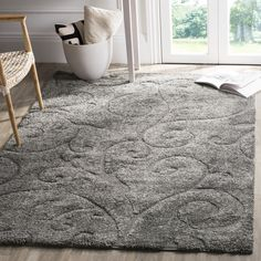 Safavieh,Grey,9' x 12' 7x9 - 10x14 Rugs: Use large area rugs to bring a new mood to an old room or to plan your decor around a rug you love. Free Shipping on orders over $45!