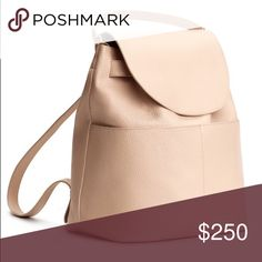 """Leather Backpack - Blush Blush Colored Leather Backpack from Cuyana. Crafted in Italy from soft Italian leather. Detachable top shoulder strap, lightly padded back straps, can even fit a 13"""" laptop. Acts effortlessly as a chic day-to-night bag. Cuyana Bags Backpacks"""