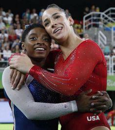 Aly Raisman and Simone Biles- Rio 2016