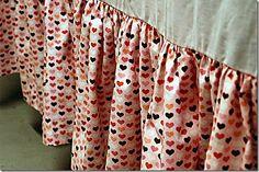 Sewing a Ruffled Bed Skirt aka Dust Ruffle