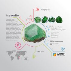 Tsavorite is named after Kenya's Tsavo National Park a wildlife preserve in the African Serengeti where the mineral is found.