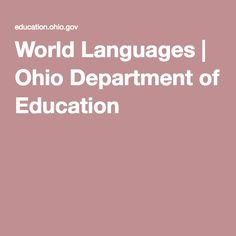 World Languages | Ohio Department of Education