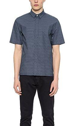 Rag & Bone Mens Short Sleeve Casper Shirt Size XS in Blue... http://www.amazon.com/dp/B01F53KEHK/ref=cm_sw_r_pi_dp_7P3mxb1WPDVV9