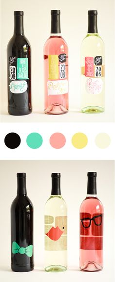 Cute colors for bottles! And cute designs too