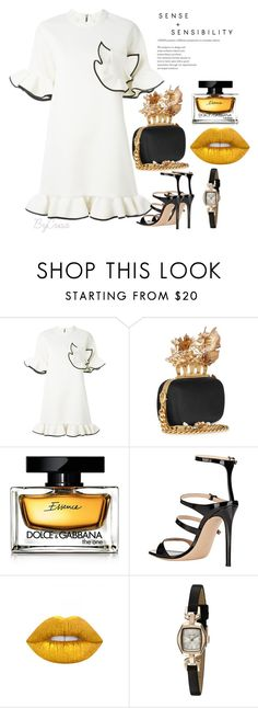 """Untitled #701"" by crisa-gloria-eduardo ❤ liked on Polyvore featuring Marni, Alexander McQueen, Dolce&Gabbana, Gianvito Rossi, Lime Crime and Bulova"