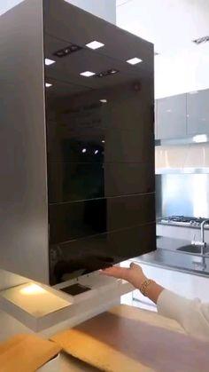 Kitchen Pantry Design, Luxury Kitchen Design, Modern Kitchen Cabinets, Kitchen Cabinet Design, Modern House Design, Interior Design Kitchen, Kitchen Organization, Kitchen Storage, Modern Mansion Interior